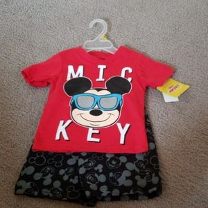 Nwt! Disney 2 piece Mickey mouse outfit 12 months
